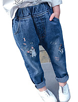 baratos -Bébé Para Meninas Estampado Jeans
