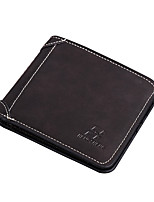 cheap -Men's Bags Suede / PU(Polyurethane) Wallet Solid Gray / Brown / Dark Brown