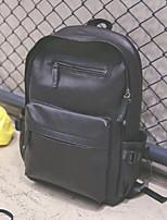 cheap -Men's Bags PU(Polyurethane) School Bag Zipper Brown / Black