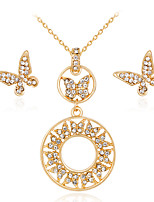 cheap -Women's Stylish Jewelry Set - Creative, Pear Stylish, European Include Drop Earrings / Necklace Gold For Wedding / Daily