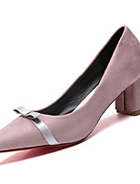 cheap -Women's Shoes PU(Polyurethane) Summer Basic Pump Heels Chunky Heel Pointed Toe Black / Pink