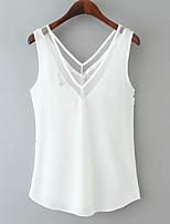abordables -Tee-shirt Femme, Couleur Pleine Mosaïque Basique