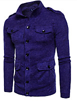 cheap -Men's Cardigan - Solid Colored, Patchwork