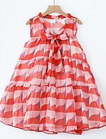 Недорогие -Дети Девочки Мультипликация Без рукавов Платье