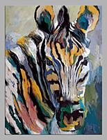 abordables -Pintura al óleo pintada a colgar Pintada a mano - Abstracto / Pop Art Modern Lona