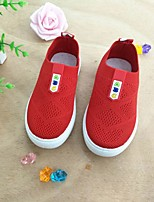 cheap -Girls' Shoes Knit Spring & Summer Comfort Loafers & Slip-Ons Walking Shoes for Kids Black / Red