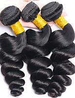 Недорогие -3 Связки Малазийские волосы Свободные волны Необработанные / Натуральные волосы Подарки / Косплей Костюмы / Человека ткет Волосы 8-28 дюймовый Естественный цвет Ткет человеческих волос / Мода