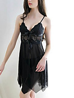 cheap -Women's Gartered Lingerie Nightwear - Lace, Solid Colored
