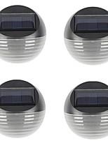 Недорогие -4шт 0.5 W Солнечный свет стены Работает от солнечной энергии / Водонепроницаемый / Декоративная Тёплый белый / Холодный белый 2 V Уличное освещение / двор / Сад