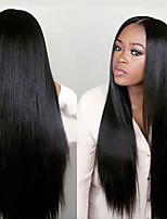 Недорогие -6 Связок Малазийские волосы Прямой Натуральные волосы Человека ткет Волосы / One Pack Solution / Накладки из натуральных волос 8-28 дюймовый Ткет человеческих волос