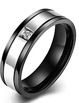 cheap -Men's Classic Band Ring - Stainless Creative Simple, Basic 8 / 9 Black For Daily / Work