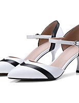 cheap -Women's Shoes Nappa Leather Spring & Summer Basic Pump Heels Stiletto Heel Pointed Toe White / Pink