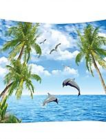 Недорогие -Пейзаж / Морское животное Декор стены 100% полиэстер Средиземноморье / Modern Предметы искусства, Стена Гобелены Украшение