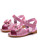 cheap -Girls' Shoes PU(Polyurethane) Spring & Summer Comfort Sandals Walking Shoes Bowknot / Magic Tape for Teenager Gold / Fuchsia / Pink