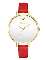 cheap -Geneva Women's Wrist Watch Chinese New Design / Casual Watch / Cool Leather Band Casual / Fashion Red / Brown / Beige