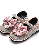 cheap -Girls' Shoes PU(Polyurethane) Spring & Summer Comfort / Flower Girl Shoes Flats Walking Shoes Bowknot / Sparkling Glitter / Magic Tape for Teenager Black / Silver / Pink