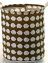 Недорогие -Ткань Круглый Cool Главная организация, 1шт Корзины для хранения