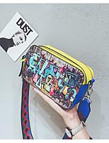 cheap -Women's Bags PU(Polyurethane) Shoulder Bag Zipper Red / Yellow / Silver