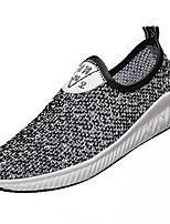 Недорогие -Муж. Сетка Лето Удобная обувь Мокасины и Свитер Белый / Черный