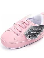 Недорогие -Девочки Обувь Полиуретан Весна & осень Обувь для малышей Кеды для Дети Белый / Черный / Розовый