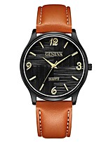 cheap -Geneva Women's Wrist Watch Quartz New Design Casual Watch Cool Leather Band Analog Casual Fashion Black / Brown / Navy - Black / Blue Rose Gold Black / Silver One Year Battery Life