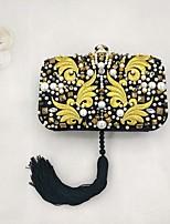 Недорогие -Жен. Мешки Полиэстер Вечерняя сумочка С кисточками Желтый
