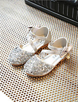 cheap -Girls' Shoes PU(Polyurethane) Spring & Summer Flower Girl Shoes Flats Bowknot for Kids Gold / Silver / Pink