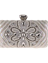 cheap -Women's Bags Polyester Evening Bag Sequin / Pearls White / Black