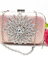 cheap -Women's Bags PU(Polyurethane) Evening Bag Crystals Gold / Blushing Pink / Silver