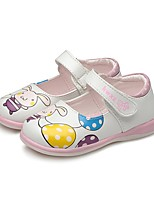 cheap -Girls' Shoes PU(Polyurethane) Spring / Fall First Walkers Flats Magic Tape for Toddler Black / Peach / Light Pink / Party & Evening