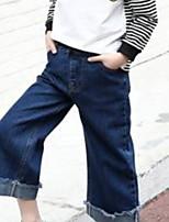 economico -Bambino Da ragazza Essenziale Tinta unita Cotone Pantaloni