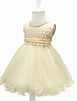 Недорогие -малыш Девочки Однотонный Без рукавов Платье