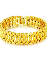 cheap -Men's Link / Chain Chain Bracelet / Bracelet Bangles / Panther Bracelet - Stainless Steel, Gold Plated Statement, Luxury, Fashion Bracelet Gold For Gift / New Year