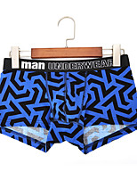 cheap -Men's Boxers Underwear Geometric High Waist