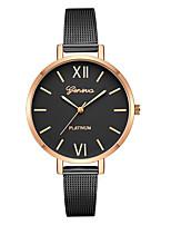 baratos -Geneva Mulheres Relógio Elegante / Relógio de Pulso Chinês Novo Design / Relógio Casual / Legal Lega Banda Casual / Fashion Preta / Prata