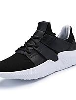 Недорогие -Муж. Комфортная обувь Сетка Весна Кеды Белый / Черный / Черно-белый