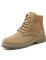 cheap -Men's Combat Boots Suede Fall & Winter Comfort Boots Black / Brown