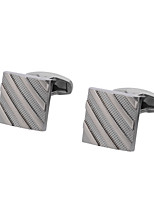 cheap -Geometric Silver Cufflinks Copper Vintage / Basic Men's Costume Jewelry For Gift / Daily