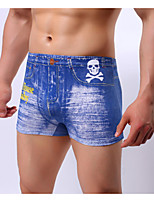 cheap -Men's Boxers Underwear Solid Colored High Waist