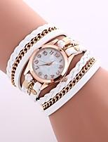 baratos -Mulheres Bracele Relógio Chinês Relógio Casual PU Banda Casual / Fashion Preta / Branco / Azul