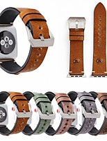abordables -Bracelet de Montre  pour Apple Watch Series 4/3/2/1 Apple Bracelet en Cuir Vrai Cuir Sangle de Poignet