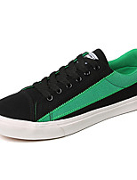 cheap -Men's Canvas Fall Comfort Sneakers Color Block Gray / Black / Green