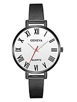 baratos -Geneva Mulheres Relógio de Pulso Chinês Novo Design / Relógio Casual / Legal Lega Banda Casual / Fashion Preta / Prata