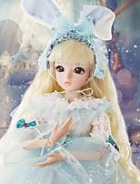 Недорогие -Doris Кукла с шаром / Блайт Кукла Девочки 24 дюймовый Полный силикон для тела - Высокотемпературные резистивные парики Детские Девочки Подарок
