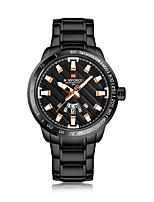 abordables -NAVIFORCE Hombre Reloj de Vestir / Reloj de Pulsera Chino Calendario / Resistente al Agua / Nuevo diseño Aleación Banda Casual / Moda Negro / Marrón
