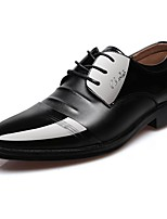 Недорогие -Муж. Полиуретан Осень Удобная обувь Туфли на шнуровке Черный / Коричневый