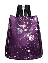 cheap -Women's Bags Nylon Backpack Zipper Black / Purple