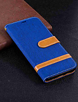 Недорогие -Кейс для Назначение Huawei Mate 10 lite / Mate 10 Кошелек / Бумажник для карт / со стендом Чехол Однотонный Твердый текстильный для Mate 10 / Mate 10 lite