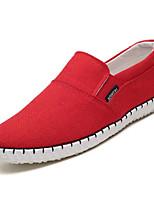 abordables -Homme Chaussures Toile Printemps / Automne Confort Mocassins et Chaussons+D6148 Noir / Beige / Rouge