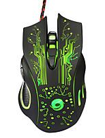 economico -Factory OEM USB cablato Gaming mouse chiavi Luce LED 4 livelli DPI regolabili 6 tasti programmabili